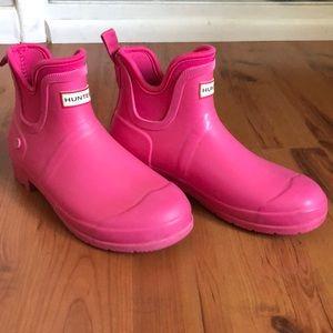 Hunter Pink Rain Boots